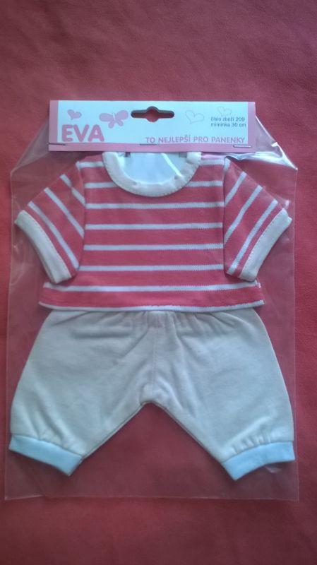 Tričko, kalhoty pro My Little Baby Born a 30 cm - Tričko, kalhoty růžovo lososová