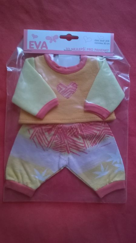 Mikinka, kalhoty pro My Little Baby Born a 30 cm - Mikinka, kalhoty oranžovo žlutá