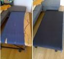Oprava roztržené sedačky- výměna látky