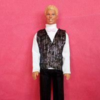 Svatební oblek pro Kena - Svatební oblek barva černo stříbrná