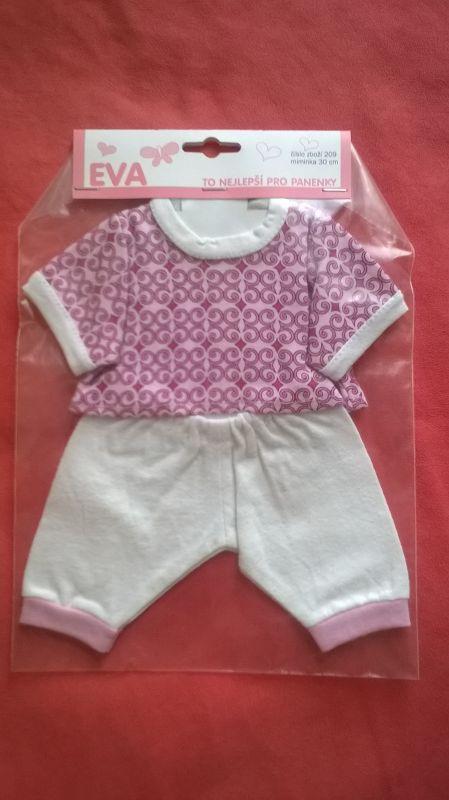 Tričko, kalhoty pro My Little Baby Born a 30 cm - Tričko, kalhoty růžovo bílá
